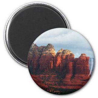 Aimant Roche nuageuse de pot de café dans Sedona Arizona