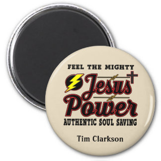 Aimant rond de puissance Editable de Jésus
