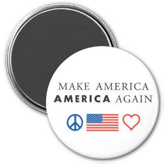 Aimant rond patriotique de l'Amérique
