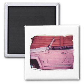 Aimant rose de voiture
