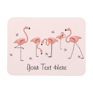 Aimant rose des textes de groupe de flamant magnets rectangulaires