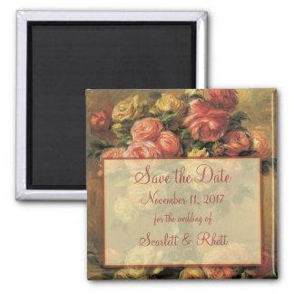Aimant Roses de Renoir épousant des économies l'aimant de