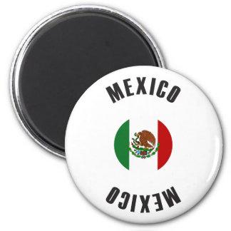 Aimant Roue de drapeau du Mexique