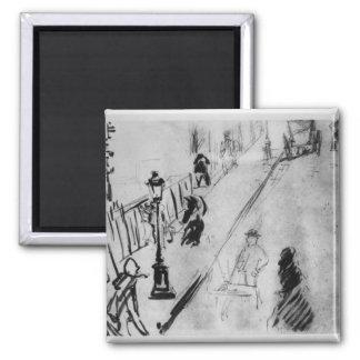 Aimant Rue Mosnier, c.1878 de Manet |