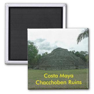 Aimant Ruines de Chacchoben de Maya de côte, Mexixo