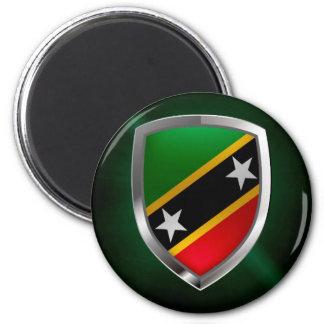 Aimant Saint Kitts et emblème métallique du Niévès