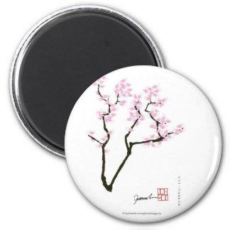 Aimant Sakura avec le poisson rouge rose, fernandes