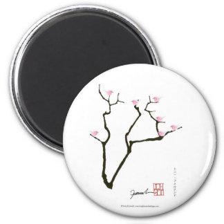 Aimant Sakura et 7 oiseaux roses 1, fernandes élégants