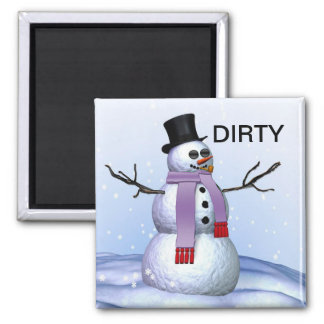 Aimant sale de Noël de lave-vaisselle de bonhomme