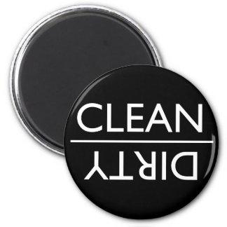 Aimant sale ou propre de lave-vaisselle (noir)