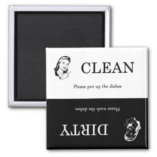 Aimant sale/propre de lave-vaisselle