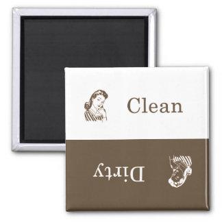 Aimant sale/propre de lave-vaisselle (Brown)