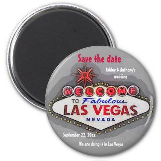Aimant Sauvez le gris argenté de Las Vegas de date