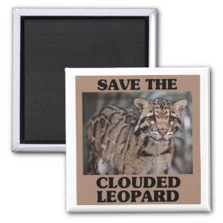 Aimant Sauvez le léopard opacifié