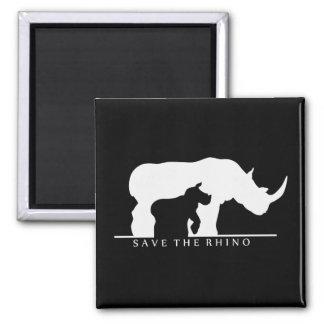 Aimant Sauvez le rhinocéros