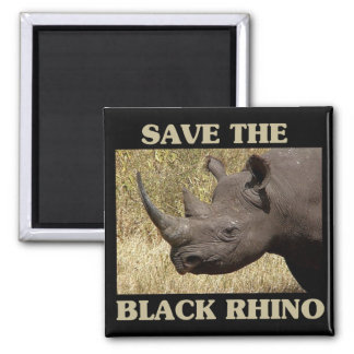 Aimant Sauvez le rhinocéros noir