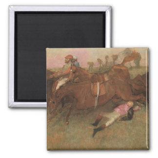 Aimant Scène d'Edgar Degas | de la course d'obstacles