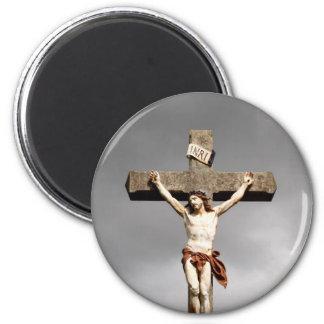 Aimant Sculpture en crucifixion de Jésus-Christ