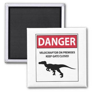 Aimant Signe de danger (Raptors)