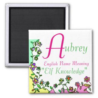 Aimant Signification nommée d'aimant, Aubrey : La