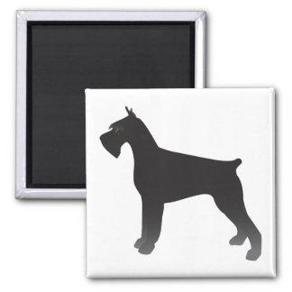 Aimant Silhouette d'illustration de race de chien de