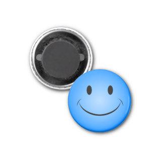 Aimant souriant bleu