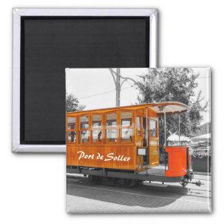 Aimant Souvenir de tram de Majorque Port de Soller Old
