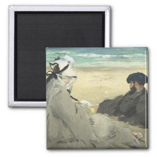 Aimant Sur la plage - Edouard Manet