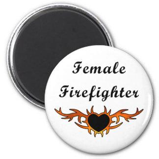 Aimant Tatouage femelle de sapeur-pompier