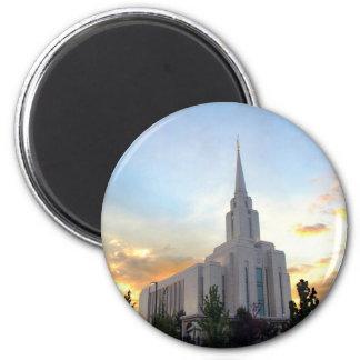Aimant Temple mormon de l'Utah de montagne de LDS Oquirrh