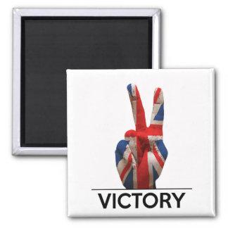 Aimant texte du Royaume-Uni les anglais de main de