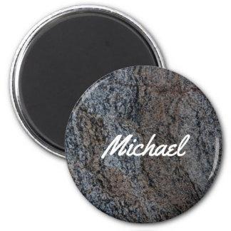 Aimant Texture noire rouge en pierre de granit