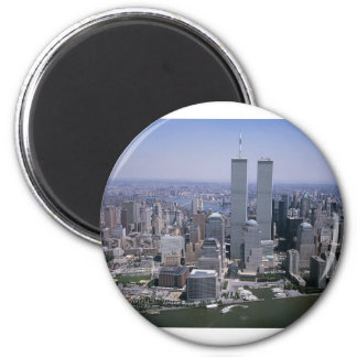 Aimant Tours jumelles d'horizon de New York City