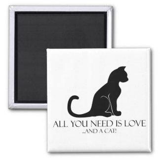 Aimant Tout que vous avez besoin est amour et un chat !
