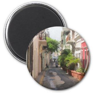 Aimant Tranquille peu de rue de Porto Rico