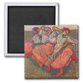 Aimant Trois danseurs russes par Edgar Degas