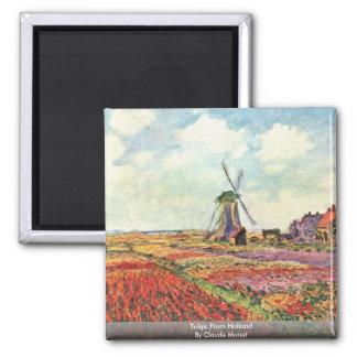 Aimant Tulipes de Hollande par Claude Monet
