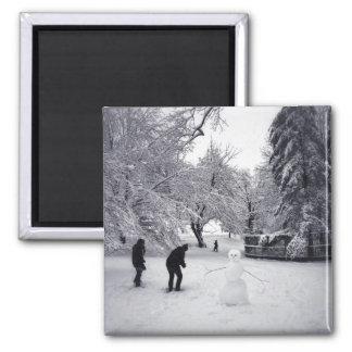 Aimant Un combat de Snowball dans le Central Park
