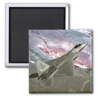 Aimant Un F/A-22 Raptor pilote une mission de formation