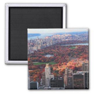 Aimant Une vue d'en haut : Automne dans le Central Park