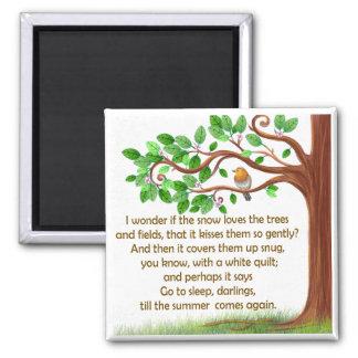 Aimant unique de poème d'arbre de nature