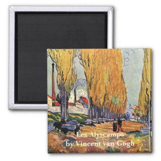Aimant Van Gogh ; Les Alyscamps (cimetière), art vintage