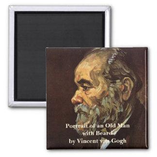 Aimant Van Gogh, vieil homme avec la barbe, portrait