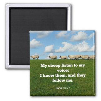 Aimant Vers de bible, 10h27 de John, mon mouton…