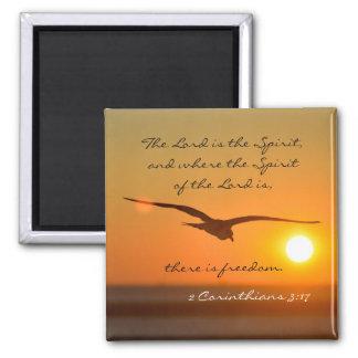 Aimant Vers de bible de liberté de 3h17 de 2 Corinthiens