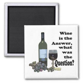 Aimant Vin drôle indiquant l'aimant