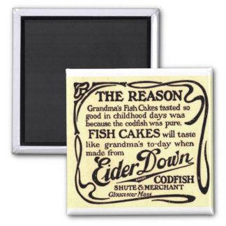 Aimant vintage de la croquette de poisson de la