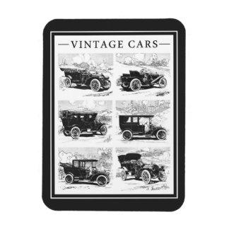 Aimant vintage de voitures magnet rectangulaire avec photo