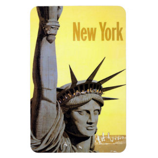 Aimant vintage de voyage de New York Etats-Unis Magnets Rectangulaire