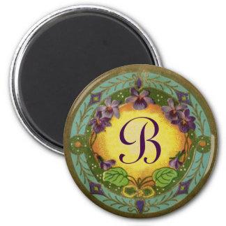 Aimant violet français de parfum d'époque de belle